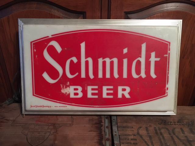 schmidt-beer-lighted-sign4 - Breweriana Aficionado